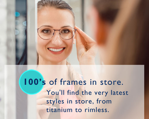 100's of spectacle frames to choose from
